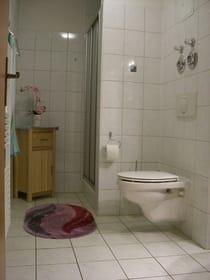 Geräumiges Duschbad mit Handtuchwärmekörper