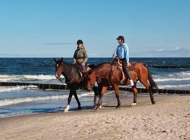 Reiter am Strand von Usedom