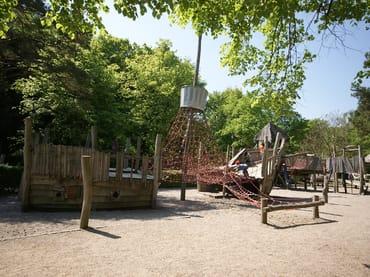 Piratenspielplatz auf der Heringsdorfer Strandpromenade