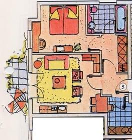 Grundriss der Ferienwohnung 05
