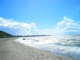 Strand in 150 m Entfernung