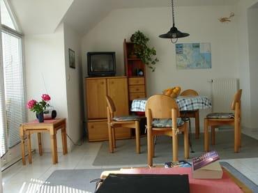 Wohnzimmer, Blick Esstisch