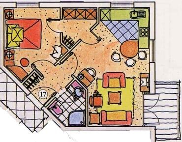 Grundriss der Wohnung 17