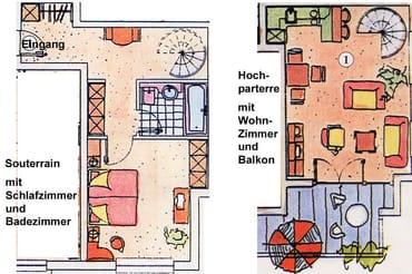 Grundriss der Wohnung 01