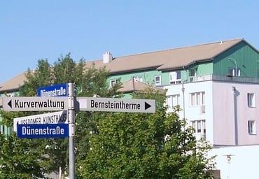 Zentrale Lage des Hauses an der Dünenstraße