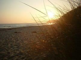 Sonnenuntergang am Strand von Binz