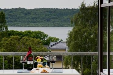 Aussicht vom Balkon