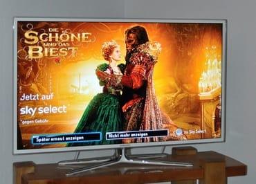 40 Zoll Flat-TV mit Sky Film-Paket inklusive