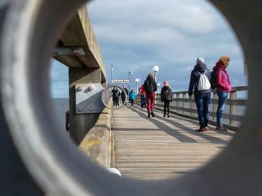 Die binzer Seebrücke.