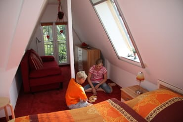 Schlafzimmer Spitzboden