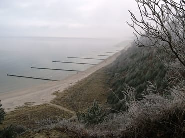 winterlicher Blick vom Streckelsberg in Koserow