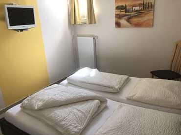 Ansicht Schlafzimmer mit TV