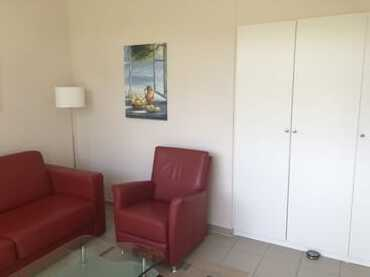 Ansicht Wohnzimmer mit Einbauschrank