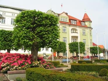 Bergen / Blick auf das Rathaus