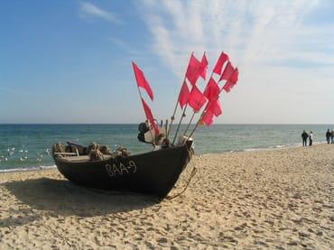 Fischerboot in Sellin am Ostseestrand
