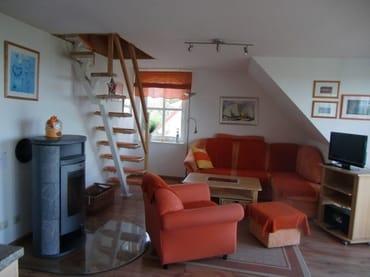 Kamin - Aufgang zum Dachgeschoss