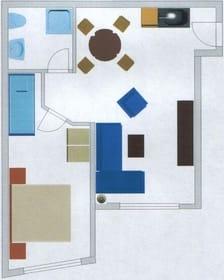 Grundriss Wohnung oben