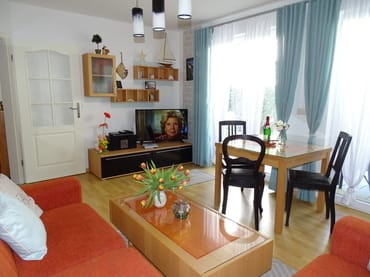 Wohnzimmer mit Fernseher 109 cm Diagonale