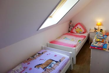 das 3. Schlafzimmer mit 2 Einzelbetten