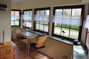 Küchenbereich 1. Eßplatz, Telefon-W-Lan Nutzung