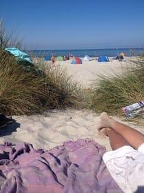 Den Strand erreicht man mit dem Fahrrad in ca. 7 Min.