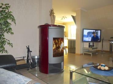 modernes Wohnzimmer mit Kaminofen