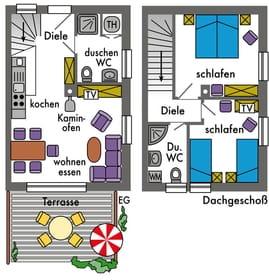gleichwertige Grundrisse und Ausstattung, Bild: 5*Reihenhaus Weststrand