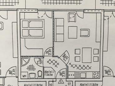 Die Wohnung - Grundriß