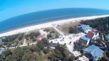 Strandpromenade und Strand von Trassenheide