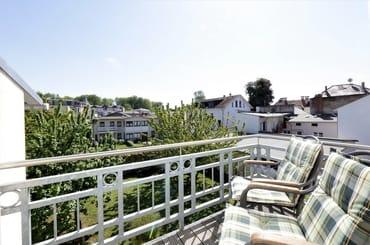 Balkon Richtung Garten