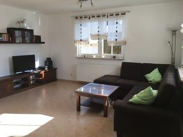 Wohnbereich mit TV und Heimkinoanlage