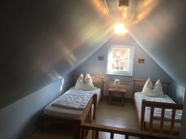 Schlafbereich im Spitzboden