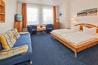 Komfortables Doppelzimmer mit Schlafcouch