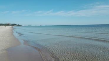 der Strand von Ahlbeck