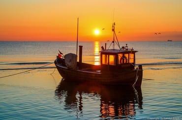 Sonnenaufgang am Strand von Ahlbeck