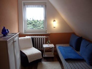 FeWo I - Couch kann zur 2-Bett Liege ausgeklappt werden