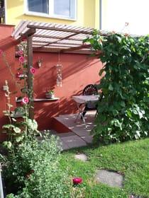 Eingang Ferienwohnung mit Terrasse