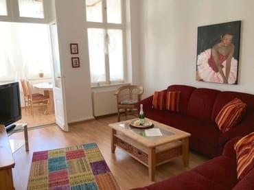 Wohnzimmer mit Veranda