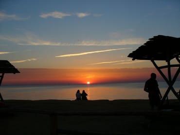 Sonnenuntergang am Strand von Kägsdorf