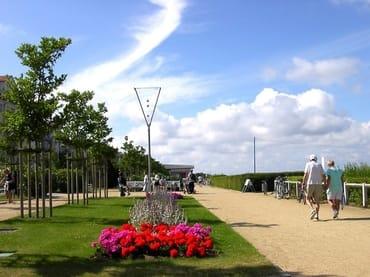 Blick auf die Bansiner Strandpromenade