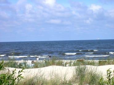 Blick über die Dünen zum Strand
