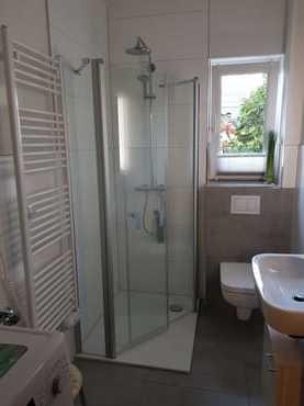 Im November 2018 modernisiertes Duschbad/WC mit Waschmaschine