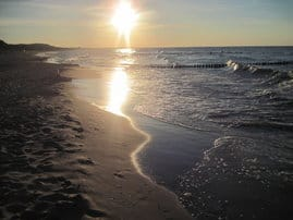 ...traumhafte und unvergessliche Sonnenuntergänge am Strand von Zempin...