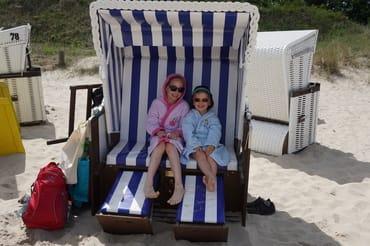 3 Gehminuten zu Ihrem Strandkorb