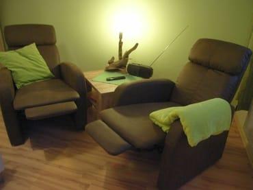 Relaxsessel auch als Liegefläche
