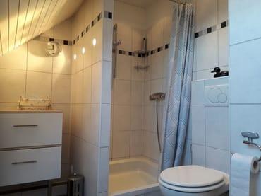 Duschbereich und WC