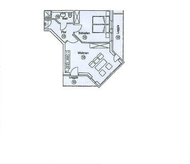 Wohnungsaufteilung - Grundriss