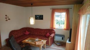 Wohnraum mit Sitzecke,Fernseher,CD-Radio.