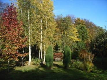 Pensionspark im Herbst