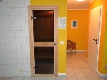 Zugang zur Sauna